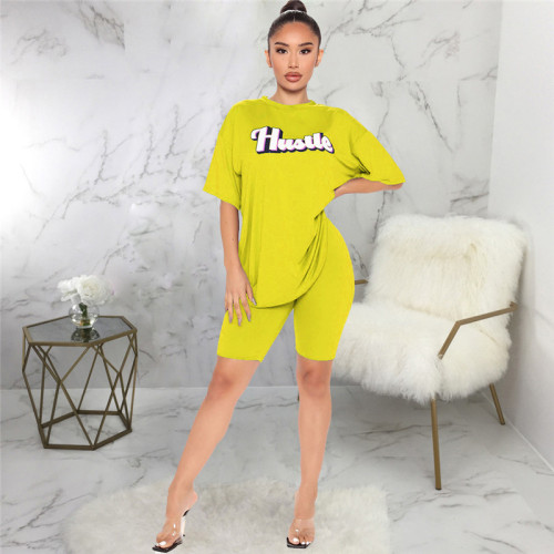Yellow Two piece sports and leisure suit