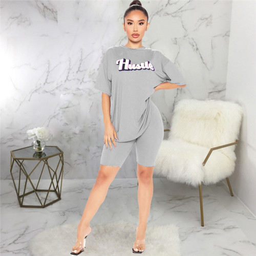 Gray Two piece sports and leisure suit