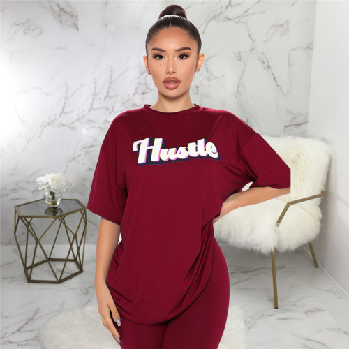 Claret Two piece sports and leisure suit