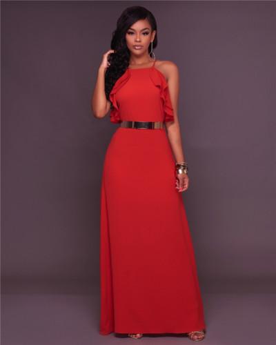 Red Fashion slim casual dress