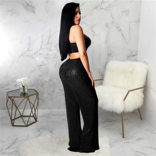 Black Sexy fashion hot Sequin pants