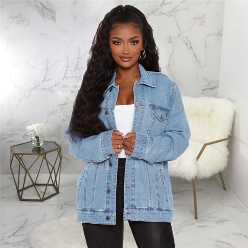 Blue Sexy fashion denim jacket