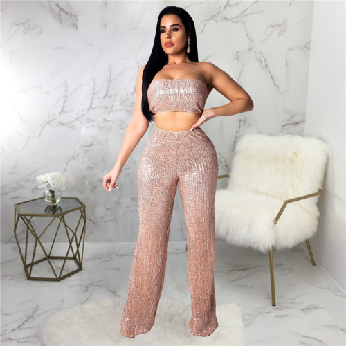 Gold Sexy fashion hot Sequin pants
