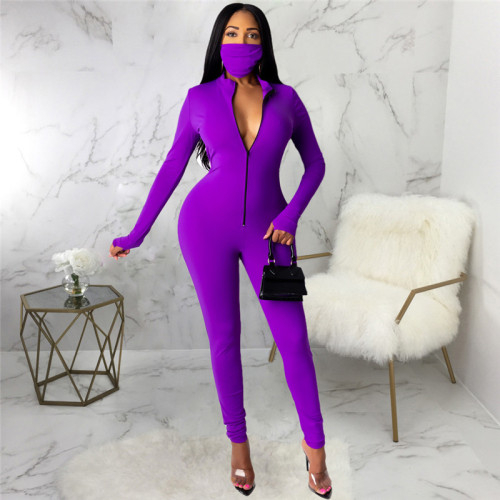 Purple Sexy fashion Jumpsuit