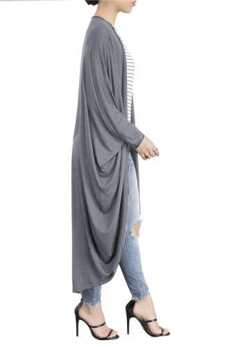 Gray Fashionable new sexy hot autumn and winter Cape Batman shirt