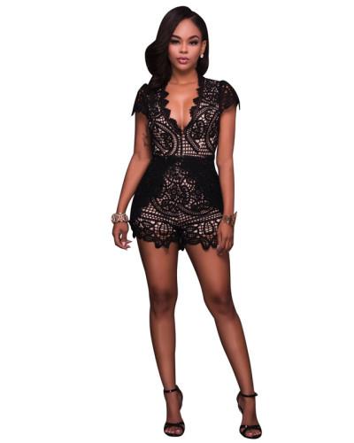 Black Sexy lace Jumpsuit