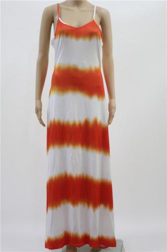 Sexy print sexy suspender dress