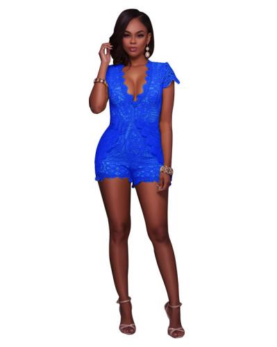 Blue Sexy lace Jumpsuit