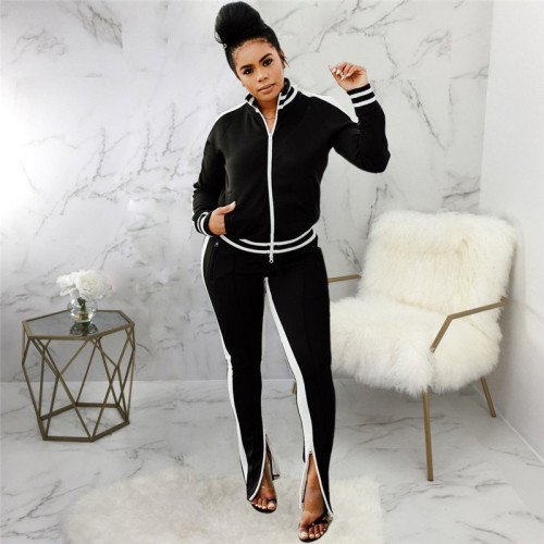 Black Casual and fashionable two piece suit for women