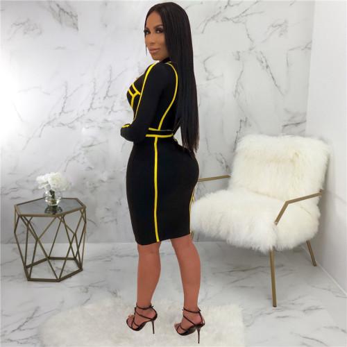 Black&Yellow Sexy fashion dress
