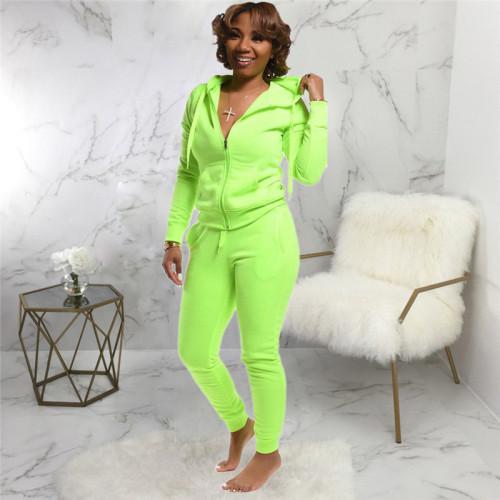 Fluorescent green Fashion printed sportswear