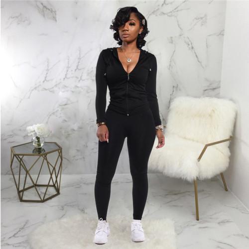 Black Fashion printed sportswear