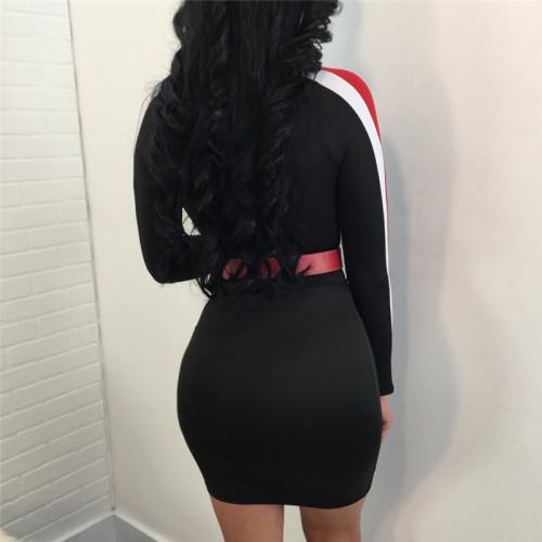 Black Sexy fashion autumn winter dress