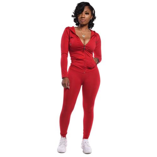 Red Fashion printed sportswear
