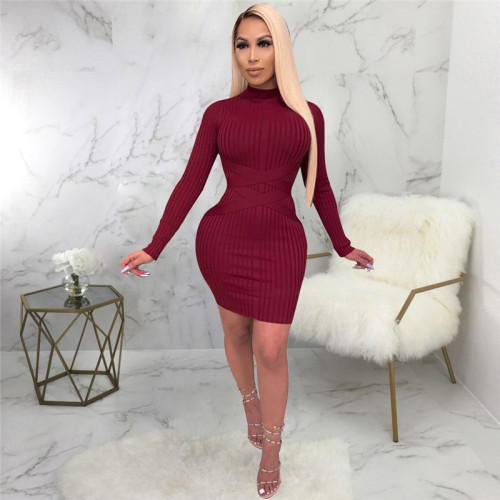 Claret Sexy fashion women's slim dress