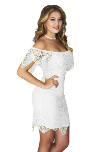 White Sexy summer lace dress