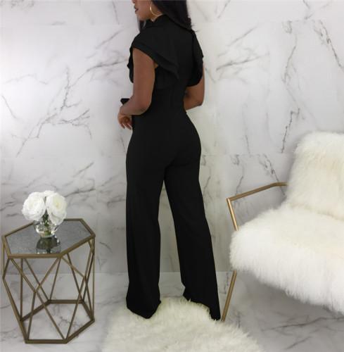 Black Sexy wide leg Jumpsuit