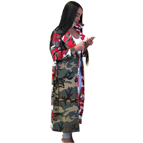 Camouflage cloak jumpsuit