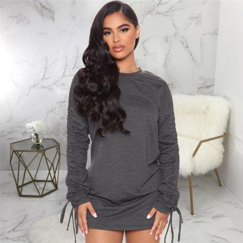 Gray Slim fashion short women's dress