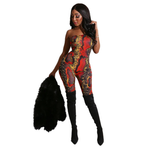 Red Sexy fashion top tights casual suit