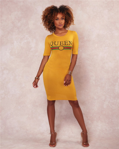 Yellow Fashion multi color loose fit casual dress