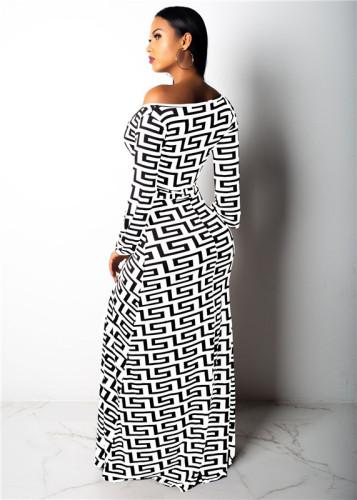 White Fashion V-neck leaky shoulder women's sexy one-piece skirt