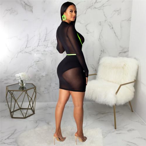 Black Sexy fashion slim women's dress