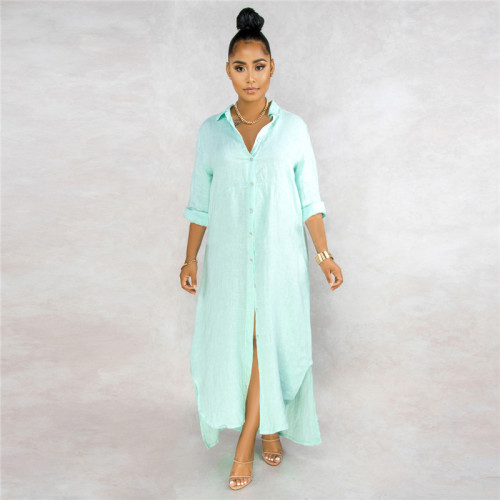 Light Green Sexy fashion classic solid color women's lining dress