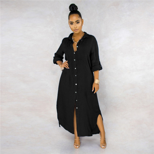 Black Sexy fashion classic solid color women's lining dress