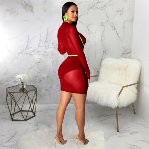 Claret Sexy fashion slim women's dress