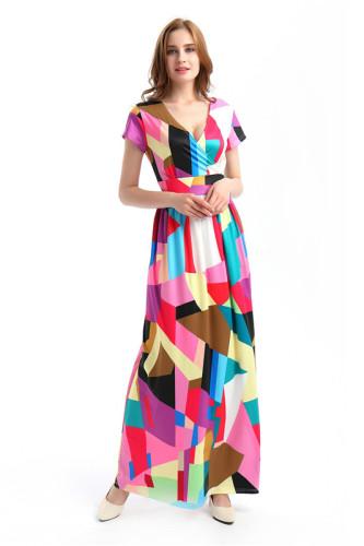 Sexy print fashion swing dress