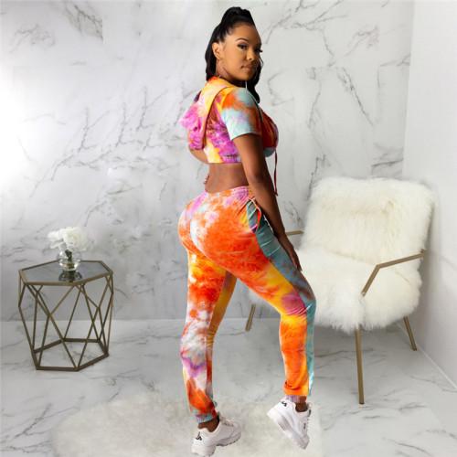Sexy fashion print suit