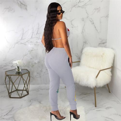 Gray Sexy fashion classic versatile women's single pants