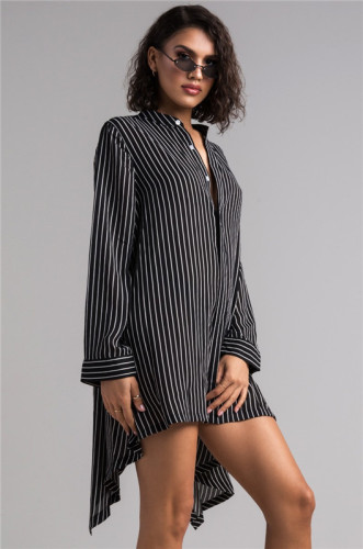 Black Sexy and fashionable women's shirt and skirt