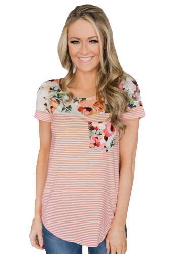 Pink Sexy printed pocket top