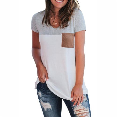 Gray Sexy stitching top