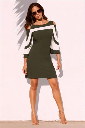 Olive Green Fashion sexy dress
