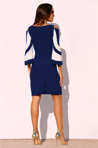 Dark Blue Fashion sexy dress