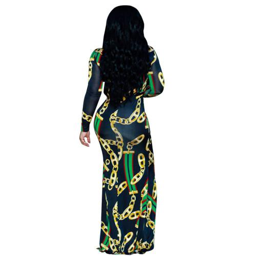 Sexy print fashion dress