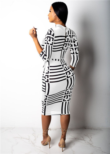 White Fashion slim sexy dress