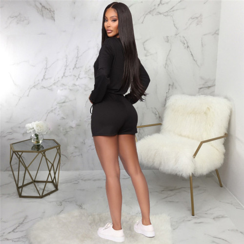 Black Sexy fashion casual sports women's Jumpsuit