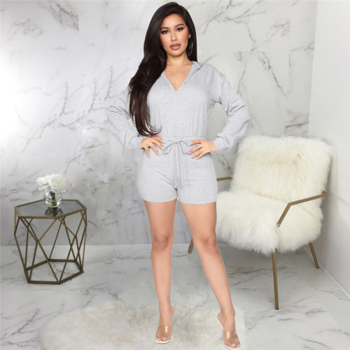 Gray Sexy fashion casual sports women's Jumpsuit