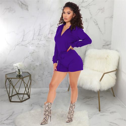 Purple Sexy fashion casual sports women's Jumpsuit