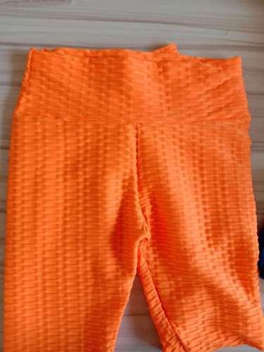 Orange Breathable hip-lifting sweat-absorbent sports fitness jacquard yoga slimming tight leggings