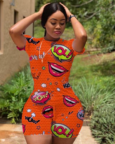 Orange Fashion sports and leisure ladies suit