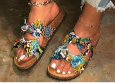 Bowknot flat sandals and slippers
