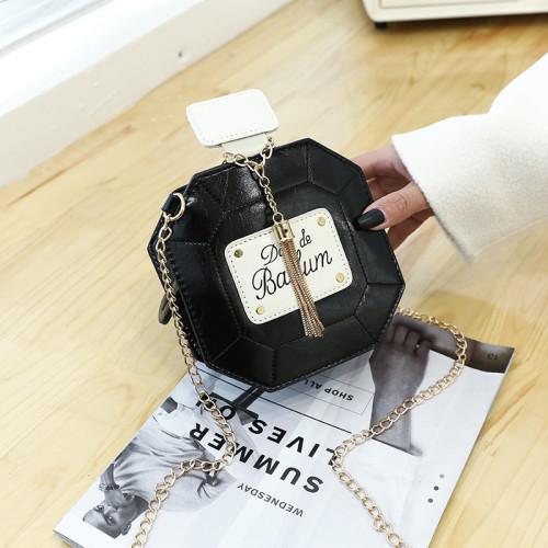 Perfume bottle tassel chain bag