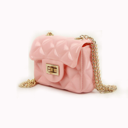 Pink Mini portable diagonal candy bag jelly bag