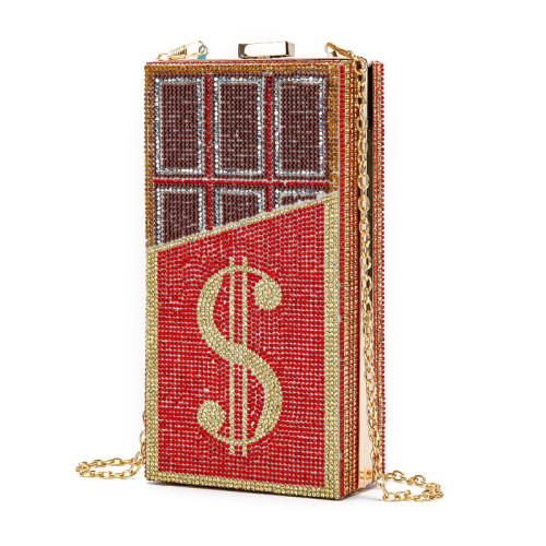 Diamond-studded chocolate dollar bag