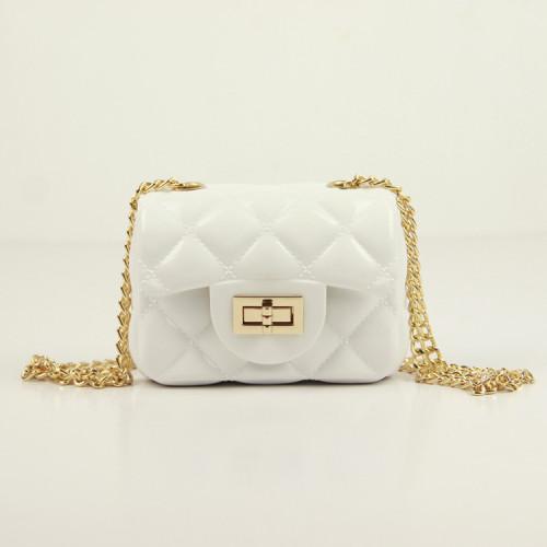White Mini portable diagonal candy bag jelly bag